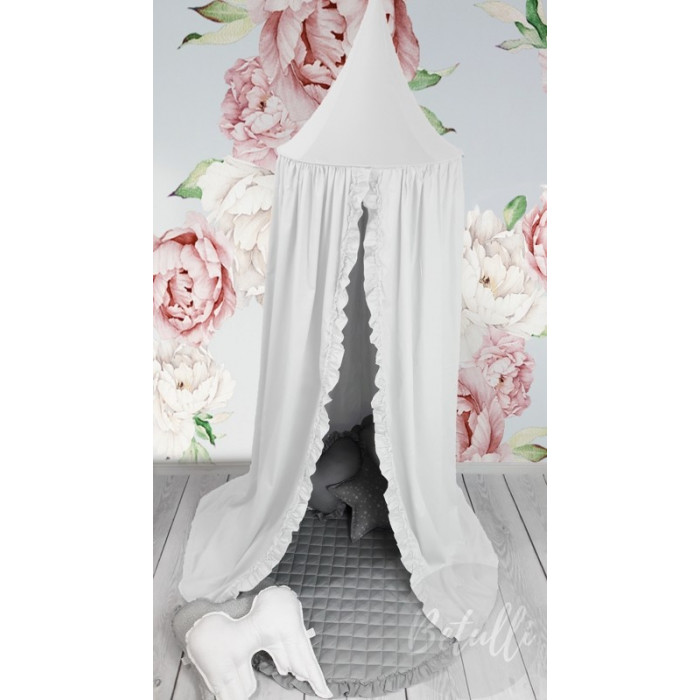 Canopy White with frill