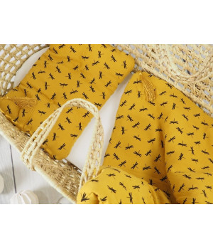 Bed linen set with filling 100x130 Mustard