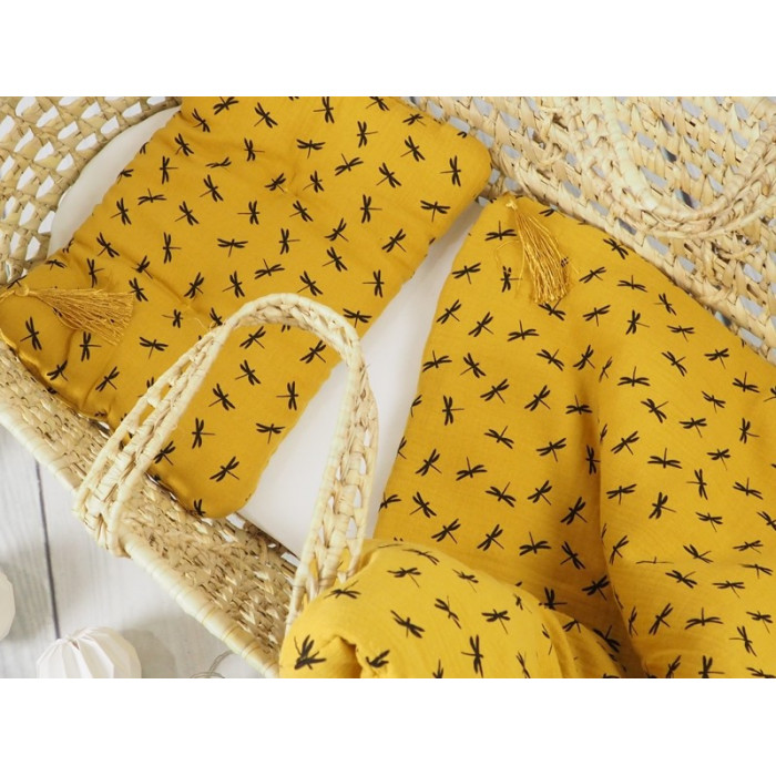 Bed linen set with filling 65 x 75 Mustard