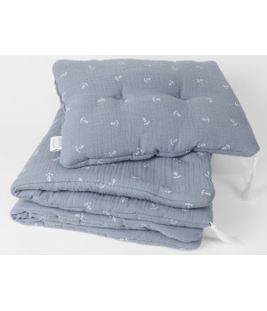 Bed linen set with filling 65 x 75 graphite