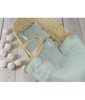 Bed linen set with filling 65 x 75 powder mint