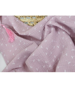 Muslin cover dusty pink