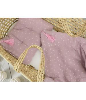 Bed linen set with filling 65 x 75 dusty pink