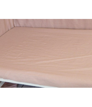 Linen Fitted sheet 70x140 Dusty Pink