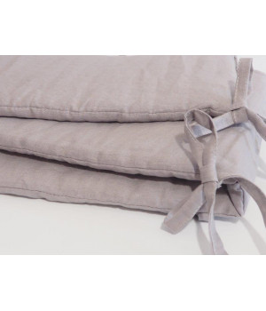 Linen Crib Bumper Grey