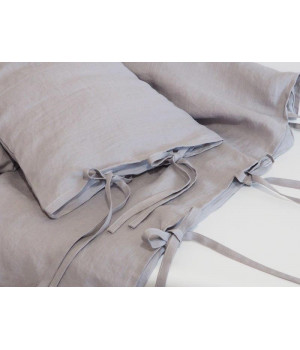 Natural Linen Covers 100x135 Grey