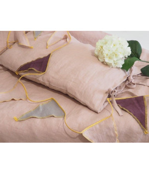 Natural Linen Covers 100x135 Dusty Pink