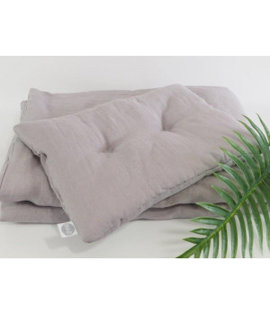 Natural Linen Bedding with filling 75x100 Grey