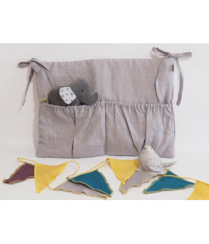 Natural Linen Organizer Grey