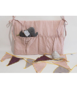 Natural Linen Organizer Dusty Pink