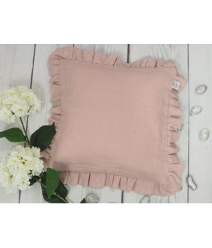 Natural Linen Cover for Pillow 40x40cm Grey