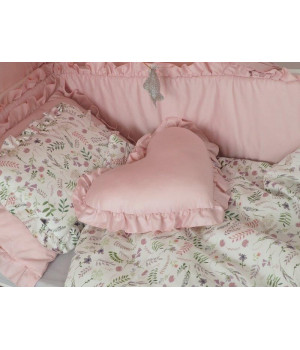 Bed linen set with filling 75x100 Satin Flowers