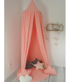 Set Muslin Canopy Coral...