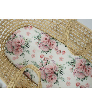Fitted sheet 40x80 Peonies