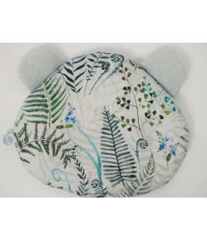 Flat pillow Teddy bear Ferns