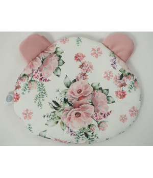 Flat pillow Teddy bear Peonies