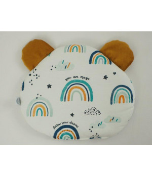 Flat pillow Teddy bear Rainbow