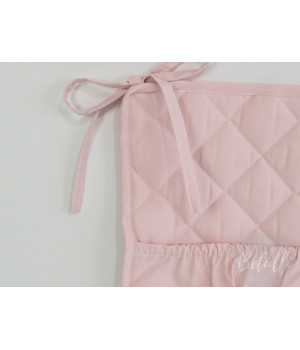 Quilted Bumper Powder Pink