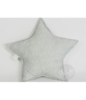 Pillow Star Grey Leaf