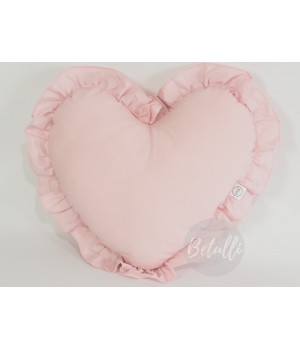 Pillow Pillow Heart with frill Powder Pink